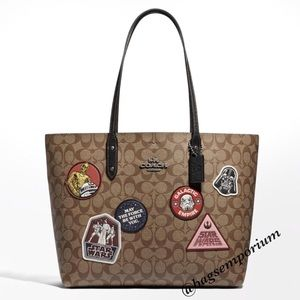 Coach x Star Wars Town Signature Patch Tote Bag